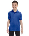 054Y Hanes Youth 50/50 EcoSmart® Jersey Knit Polo