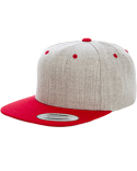6089MT Yupoong Adult 6-Panel Structured Flat Visor Classic Two-Tone Snapback