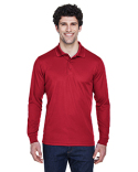 88192 Ash City - Core 365 Men's Pinnacle Performance Long-Sleeve Piqué Polo