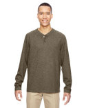 88221 Ash City - North End Men's Excursion Nomad Performance Waffle Henley