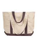 8871 Liberty Bags Windward Large Cotton Canvas Classic Boat Tote