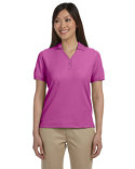 D100W Devon & Jones Ladies' Pima Piqué Short-Sleeve Y-Collar Polo