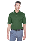 D140 Devon & Jones Men's Tipped Perfect Pima Interlock Polo